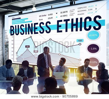 Business Meeting Ethics Graph Concept