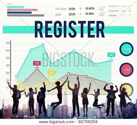 Register Membership join Enter Record Concept
