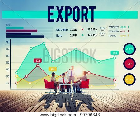 Business People Export Graph Concept