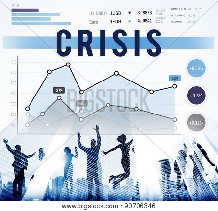Crisis Problem Recession Risk Business Concept