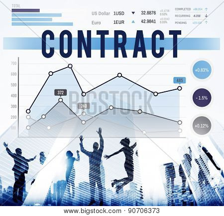 Contract Deal Business Marketing Strategy Concept