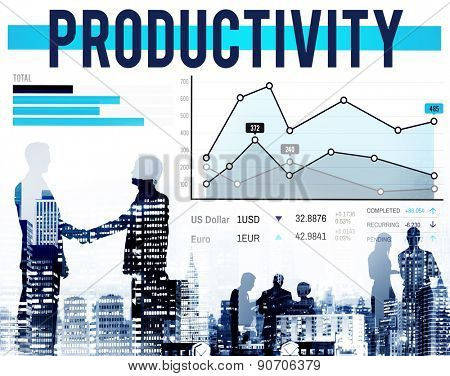 Productivity Efficiency Figures Work Flow Concept