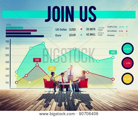 Business People Join Us Concept