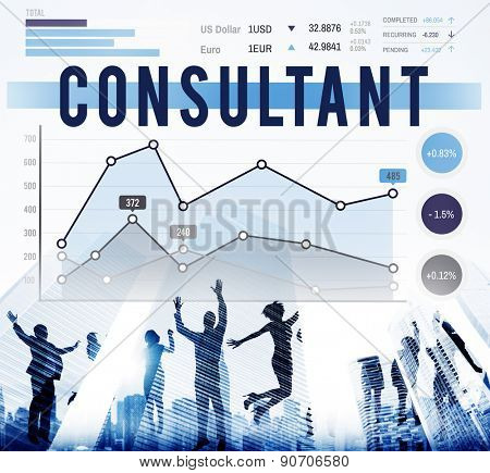 Business Consultant Report Progress Concept