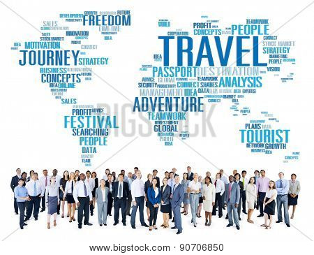Travel Explore Global Destination Trip Adventure Concept