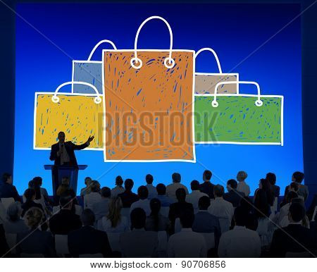 Shopping Bag Sale Capitalism Shopaholic Concept