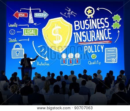 Crowd People Seminar Safety Risk Business Insurance Concept