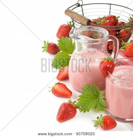 Milkshake With Strawberries