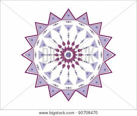 Purple and white Moroccan star - decorative element