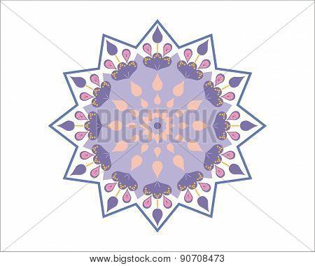 Purple Moroccan star - decorative element