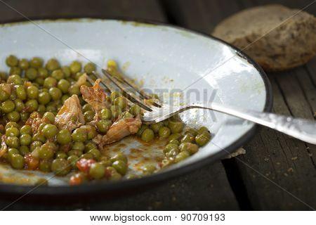 Eating Chicken Stew