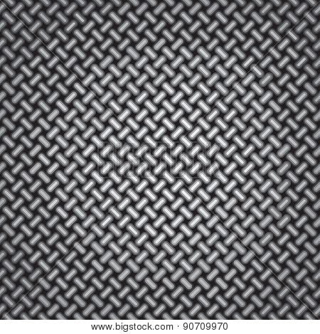 Weaving Pattern. Wire Net Background