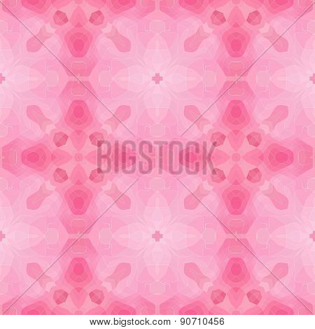 Seamless Mosaic Texture Or Background In Pink
