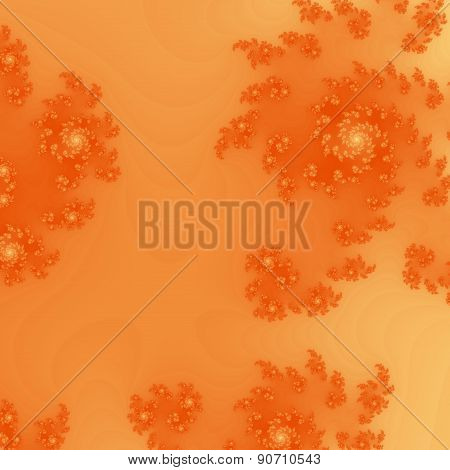 Seamless Ornate Pattern In Orange