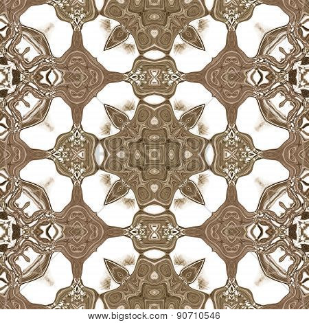 Seamless Ornate Texture Or Pattern In Brown 2