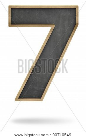 Black blank number 6 shape blackboard