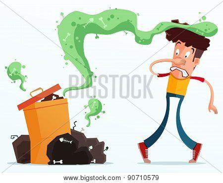 stinky garbage