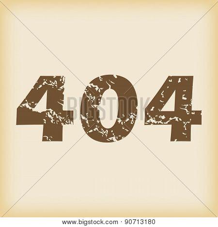 Grungy 404 icon