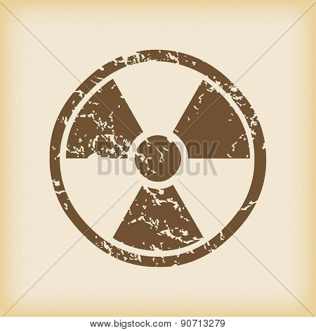 Grungy hazard icon