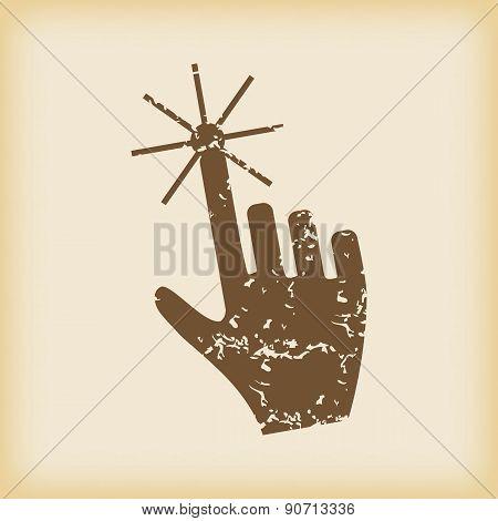 Grungy hand cursor icon