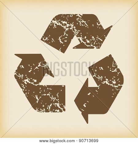 Grungy recycle icon