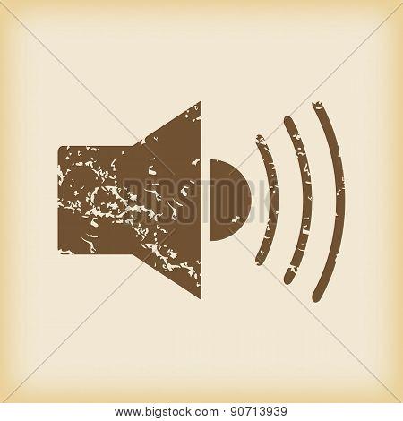 Grungy loudspeaker icon