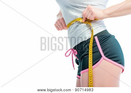 Centimeter On A Slender Female Waist