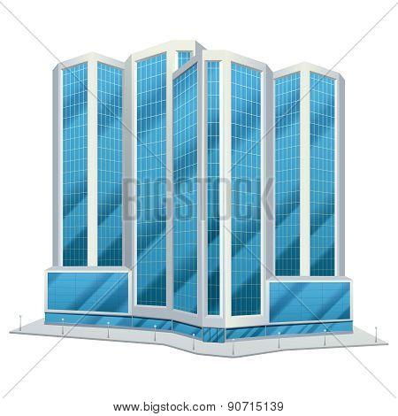 Urban glass tall buildings illustration