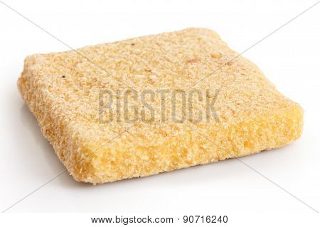 Frozen bread crumbed cheese.
