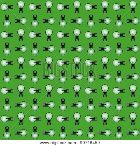 Seamless Texture (green Glowing Lamp)