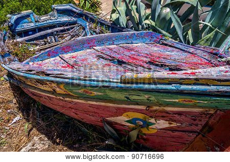 Traditional Old Leaky Boat