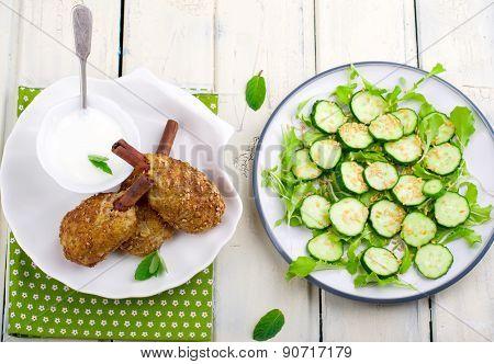 Chicken Cutlets With Bran.