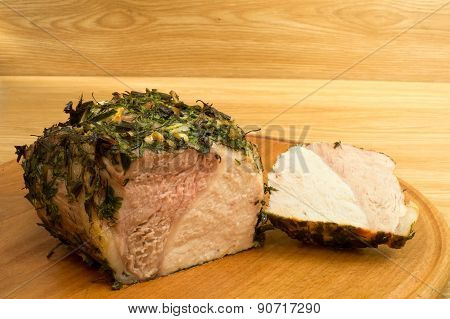 Meat Baked On A Round Board6.