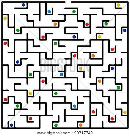 Black Square Maze (20X20)