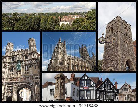 Canterbury Landmarks Collage
