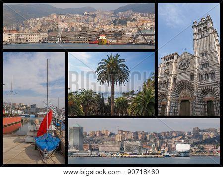 Genoa Landmarks Collage