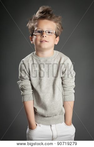 Elegant Boy In Studio