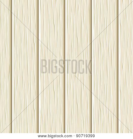 Seamless beige wooden planks texture. Vector illustration.