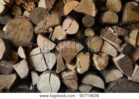 Fire Wood In The Storage