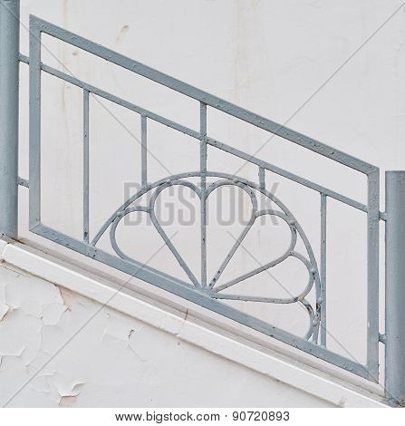 Decorative Railing On The Stairs