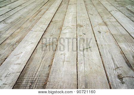 Light Wood Background - Perspective View Wooden Floor With Thick Desks