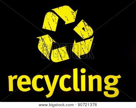 Recycling Notice Yellow Logo