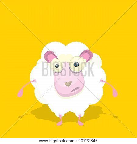 vector cartoon cute sheep.