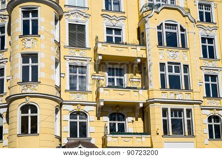 Detail of an old apartment house