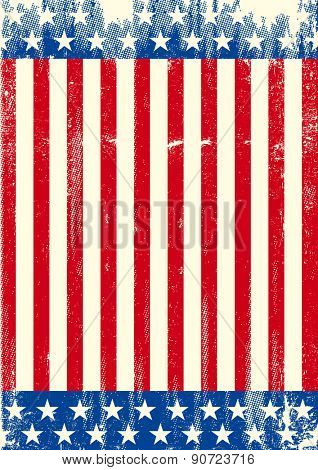 American grunge background flag. An American background for your publicity