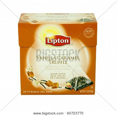 Box Of Lipton Vanilla Caramel Truffle Tea
