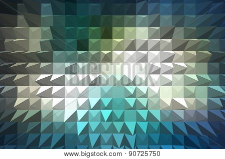 Blue Extrude Geometric Abstract Background