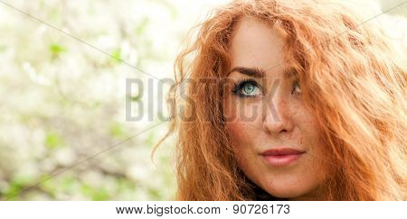 Face Red-haired Woman