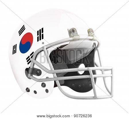 Flagged South Korea American Football Helmet