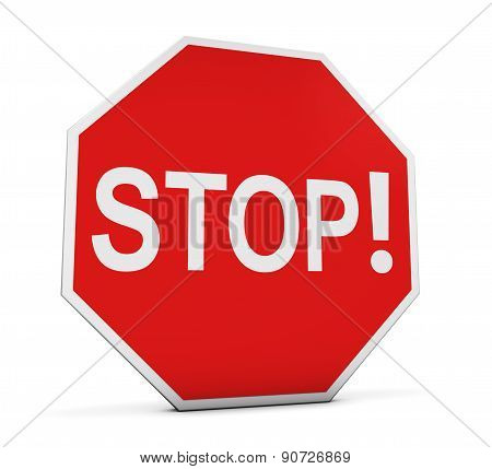 Stop Sign With Exclamation